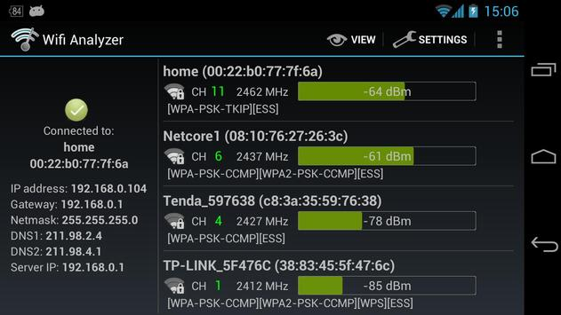 Wifi Analyzer captura de pantalla 7