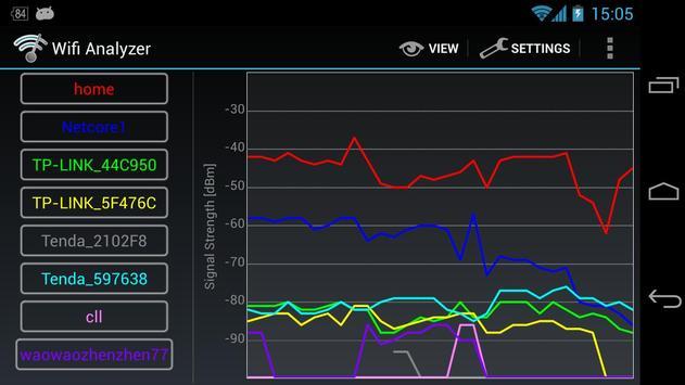 Wifi Analyzer captura de pantalla 5