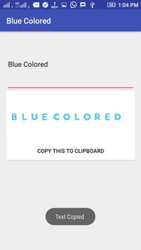Blue Colored Text screenshot 1