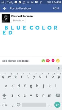 Blue Colored Text screenshot 3