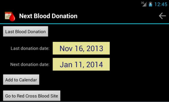 Next Blood Donation poster