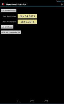 Next Blood Donation screenshot 1