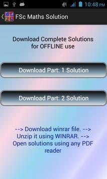 FSc Maths Solution apk screenshot