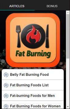 Fat Burning Food poster