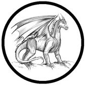 drawing a dragon icon