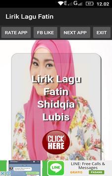 Lirik Lagu Fatin poster