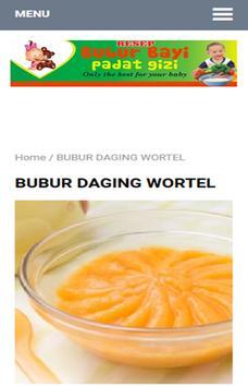 Resep Bubur Bayi apk screenshot