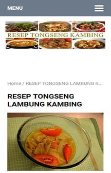 Resep Tongseng Kambing poster