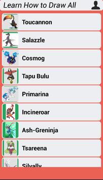 Learn How to Draw All Pokemon Sun Moon screenshot 3