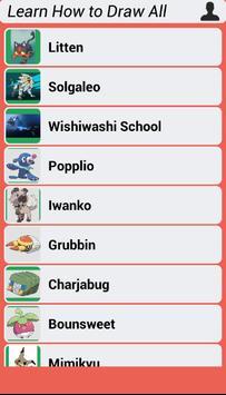 Learn How to Draw All Pokemon Sun Moon screenshot 1
