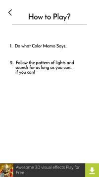 Color Memo: Simon Says 2 screenshot 2