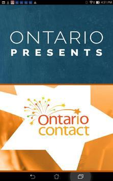 Ontario Presents poster