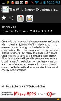 CanWEA 2013 apk screenshot