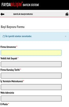 Fayda Bilişim Bayilik Sistemi screenshot 3