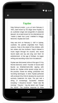 Faydee - Music And Lyrics apk screenshot