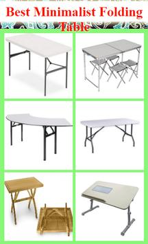 Best Minimalist Folding Table poster