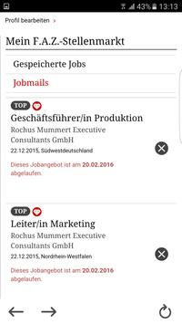 F.A.Z. Stellenmarkt – Ihre App für die Jobsuche apk screenshot