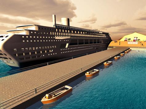 Tourist Transport Ship Game - Cruise Ship Driving screenshot 6