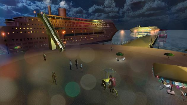 Tourist Transport Ship Game - Cruise Ship Driving screenshot 1