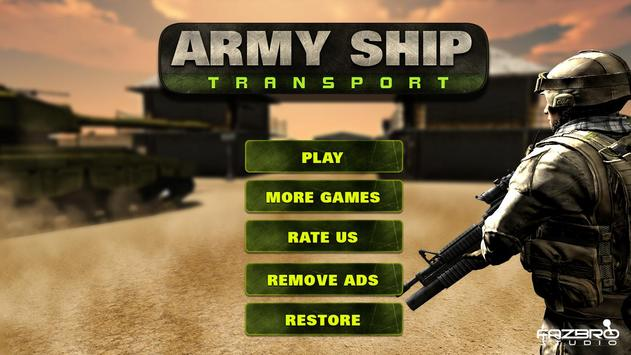 US Army Cruise Ship Tank Transport Helicopter Game screenshot 3