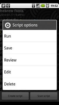 Scripter apk screenshot
