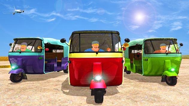 Stunt tuk tuk rickshaw free apk screenshot