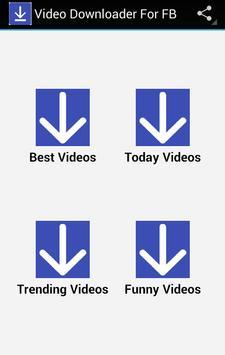 Video Downloader For FB poster