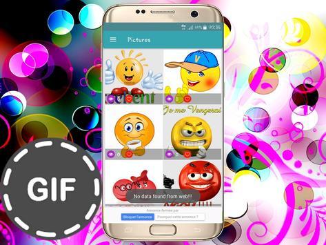 Émoticônes GIFS pour whatsapp and fb screenshot 3
