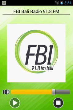 FBI Bali Radio 91.8 FM poster