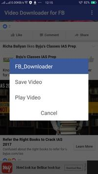Video Downloader for FB poster