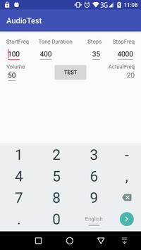 Audio Test (Tone generator and power measurement) apk screenshot