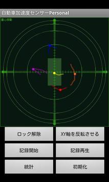 Car acceleration sensor person poster
