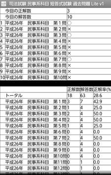 司法試験 民事系科目 短答式試験 過去問題 Lite v1 apk screenshot