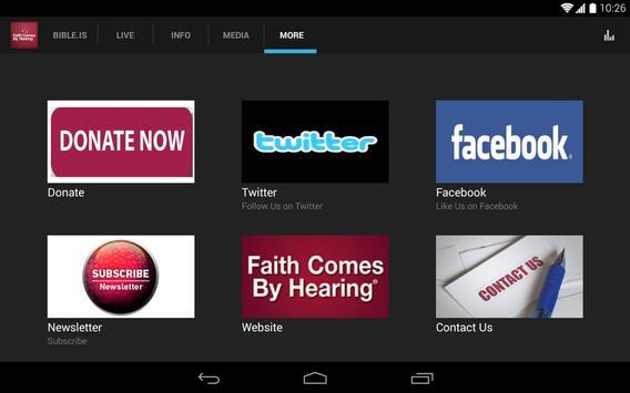 Faith Comes by Hearing apk screenshot