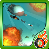 submarine torpedo war 3D icon