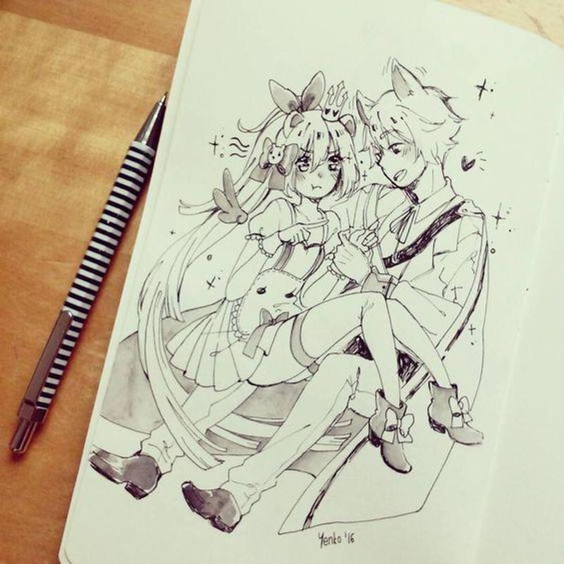 Drawing Anime Couple Ideas For Android Apk Download