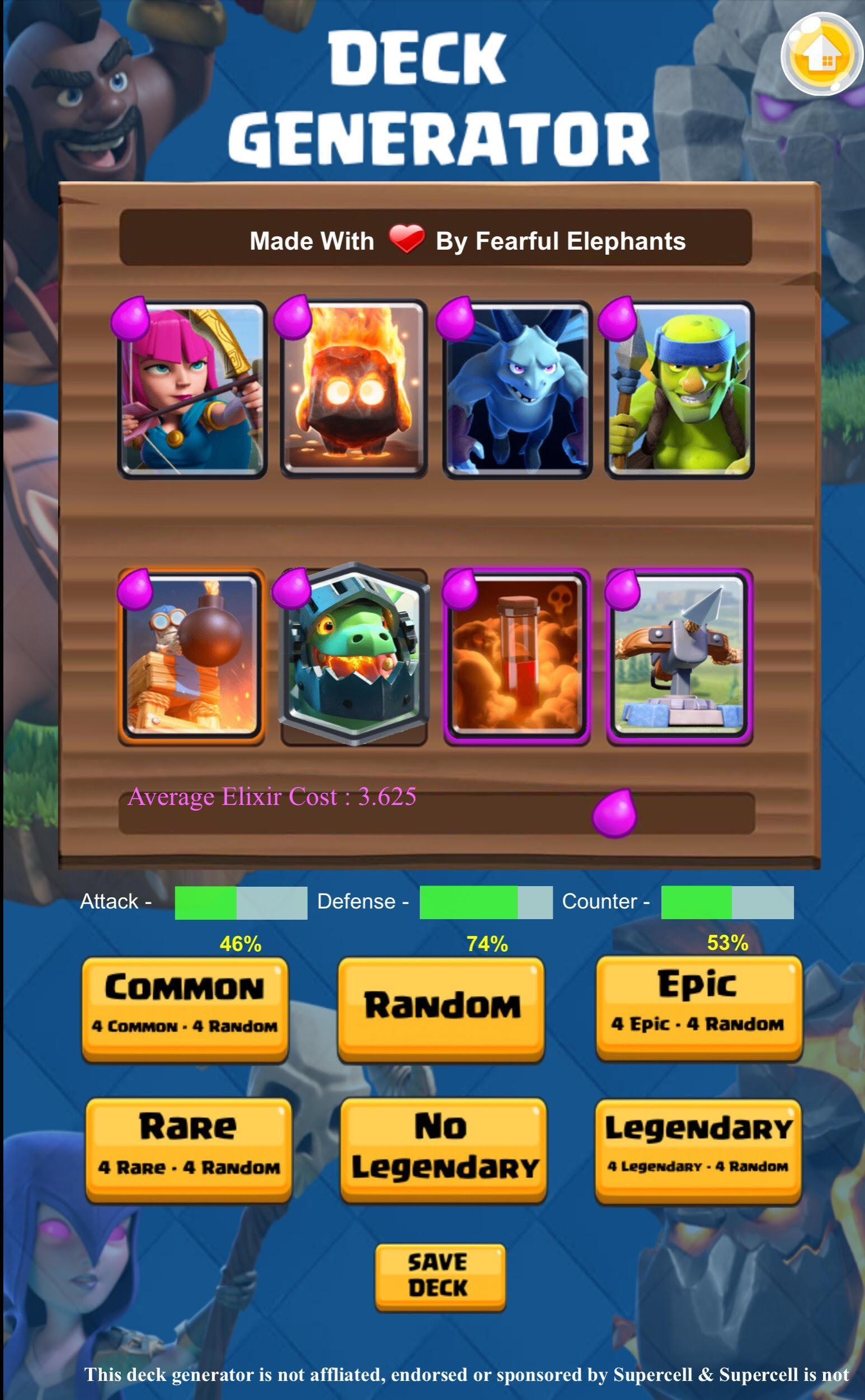 Deck Generator - Clash Royale for Android - APK Download