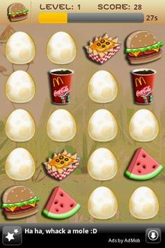 Memory Game For Kids-Fast Food poster