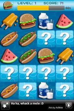 Memory Game For Kids-Fast Food apk screenshot