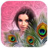 Peacock Feather Photo Frame HD icon