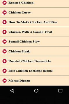 Somali Recipes for Chicken Videos apk screenshot