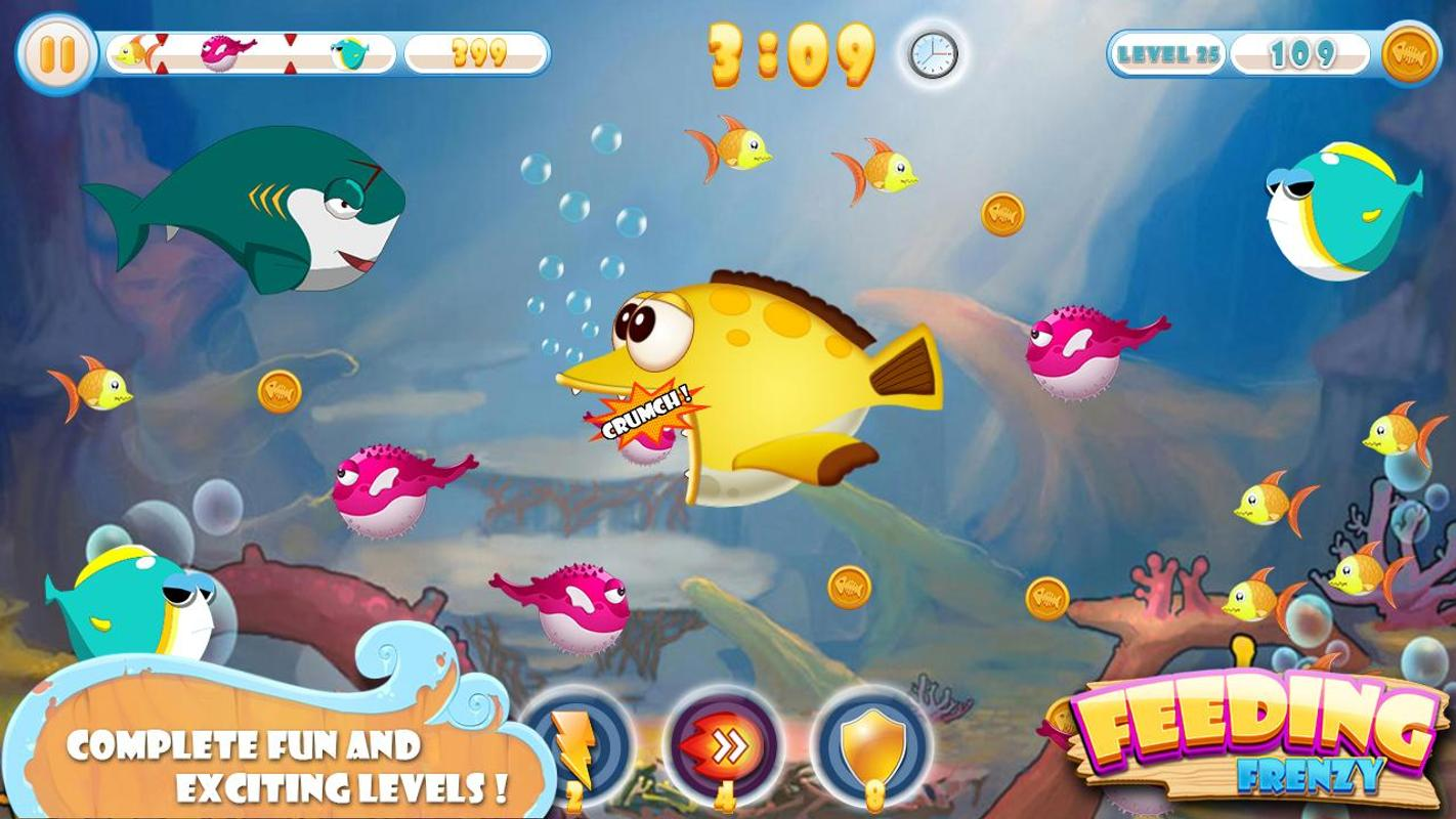 Feeding frenzy 3 apk download gratis santai permainan for Fish frenzy game
