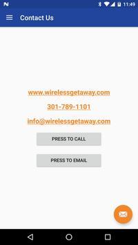 WirelessGetaway apk screenshot