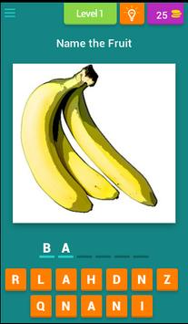 Name the Fruit poster