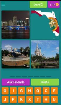 US QUIZ - 4 Pics 1 State screenshot 2