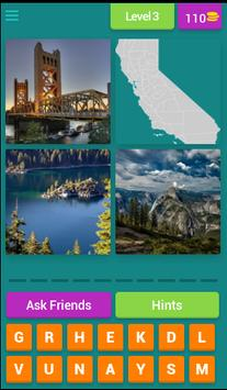 US QUIZ - 4 Pics 1 State screenshot 3