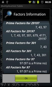 Maths Multiplication Factors screenshot 6