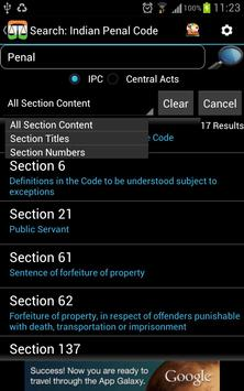 IPC - Indian Penal Code apk screenshot