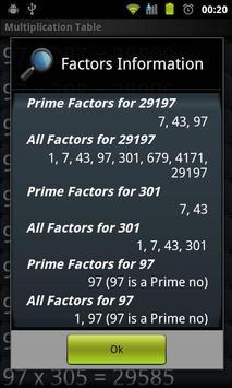 Multiplication Tables Legacy screenshot 6