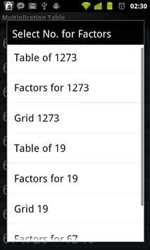 Multiplication Tables Legacy screenshot 7